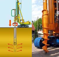 Бурение свай методом раскатчика грунта по технологии DDS