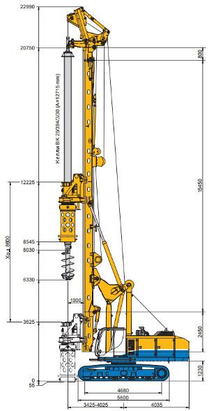Буровая установка Bauer BG 22 H — технические параметры